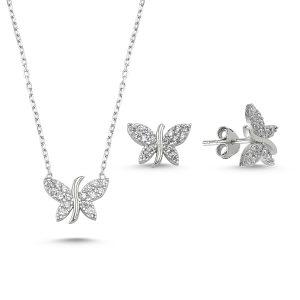 Set argint 925 rodiat cu fluturi si zirconii albe - Be Nature_STU0002-9803-979422