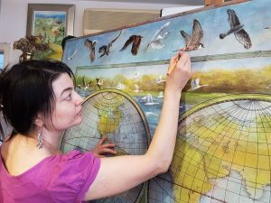 Vali Irina Ciobanu pictand Delta Dunarii - foto VIC -